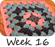 Crochet Granny Square a Week 16